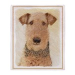 Airedale Terrier Throw Blanket