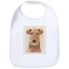 Airedale Terrier Cotton Baby Bib