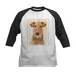 Airedale Terrier Kids Baseball Tee