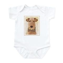 Airedale Terrier Baby Light Bodysuit