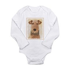 Airedale Terrier Long Sleeve Infant Bodysuit