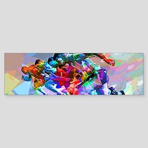 Super Crayon Colored Sprinters Bumper Sticker