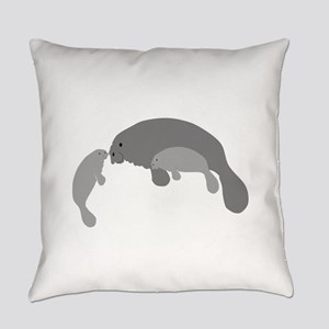 Mother Manatee Everyday Pillow