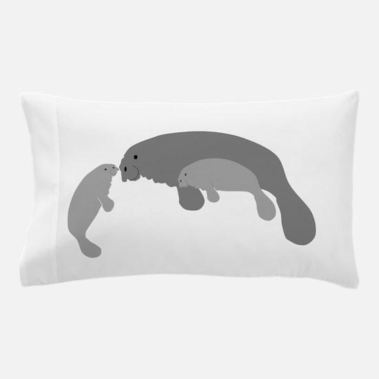 Mother Manatee Pillow Case