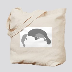 Mother Manatee Tote Bag