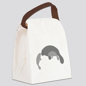 Mother Manatee Canvas Lunch Bag