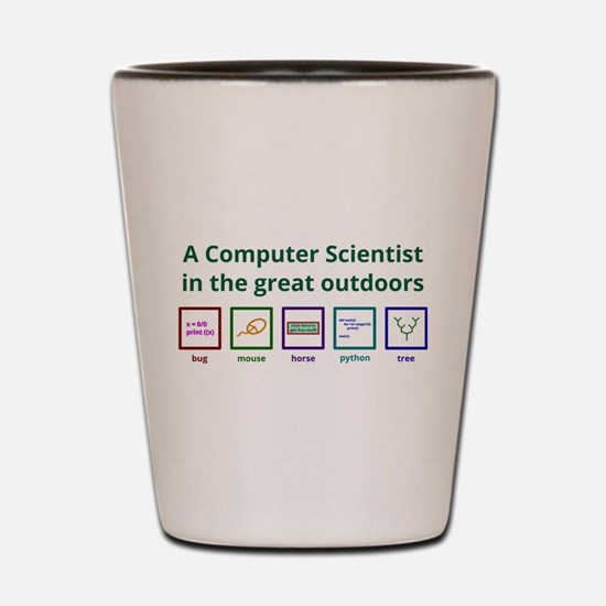 A computer scientist in the great outdoors Shot Gl