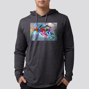 Super Crayon Colored Sprinters Long Sleeve T-Shirt