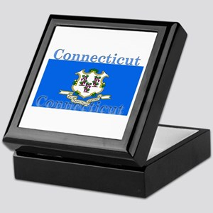 Connecticut State Flag Keepsake Box