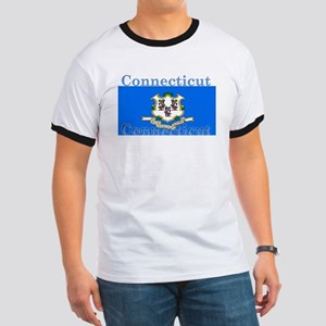 Connecticut State Flag Ringer T