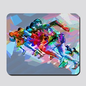 Super Crayon Colored Sprinters Mousepad