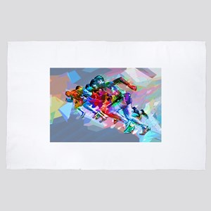 Super Crayon Colored Sprinters 4' x 6' Rug
