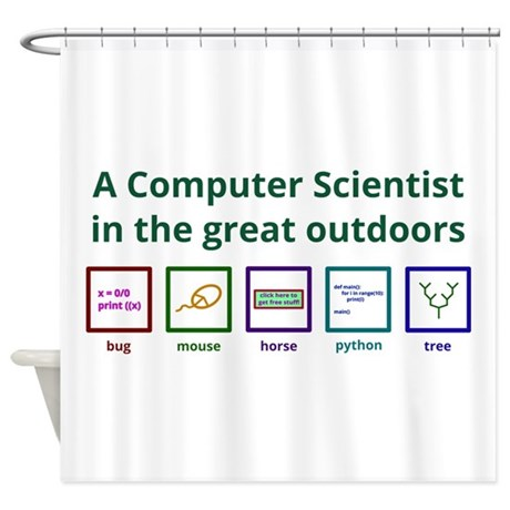 A Computer Scientist In The Great Shower Curtain