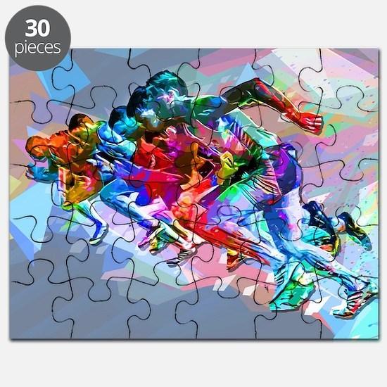Super Crayon Colored Sprinters Puzzle