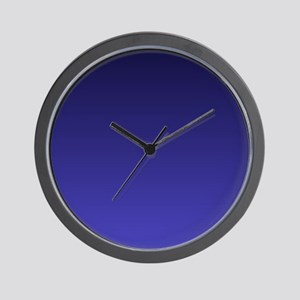 royal blue ombre Wall Clock