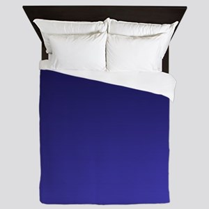 royal blue ombre Queen Duvet