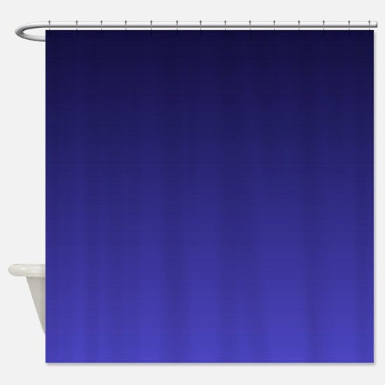 royal blue ombre Shower Curtain