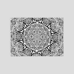 Mandala Pattern 5'x7'Area Rug