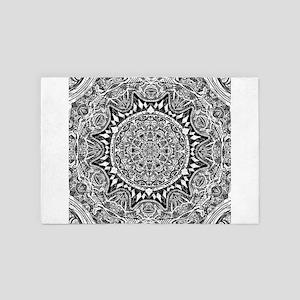 Mandala Pattern 4' x 6' Rug