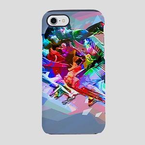 Super Crayon Colored Sprinters iPhone 7 Tough Case