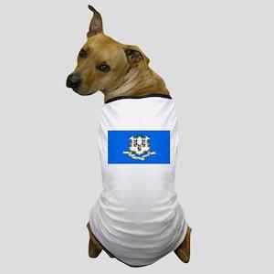 Connecticut Blank Flag Dog T-Shirt