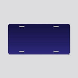 royal blue ombre Aluminum License Plate