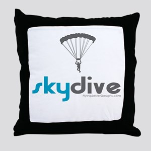 Blue Skydive Throw Pillow