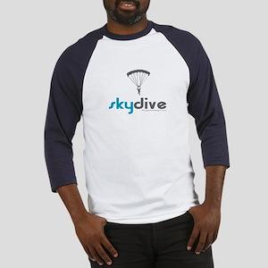 Blue Skydive Baseball Jersey