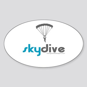 Blue Skydive Oval Sticker