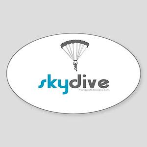 Blue Skydive Oval Sticker