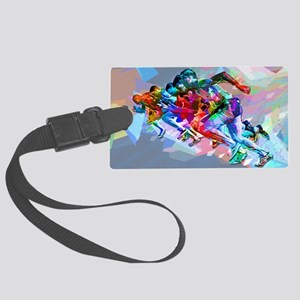Super Crayon Colored Sprinters Large Luggage Tag