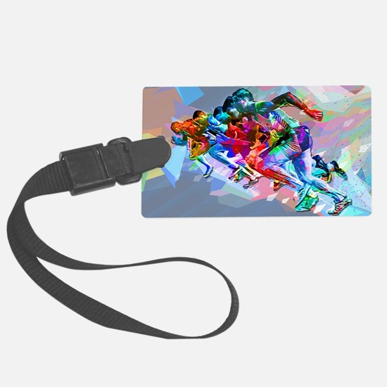 Super Crayon Colored Sprinters Luggage Tag