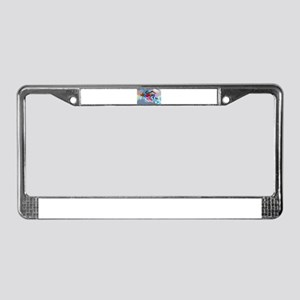 Super Crayon Colored Sprinters License Plate Frame