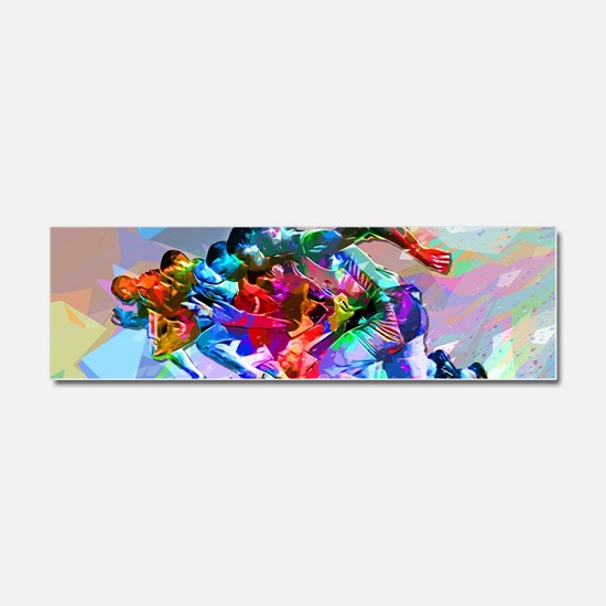 Super Crayon Colored Sprinters Car Magnet 10 x 3