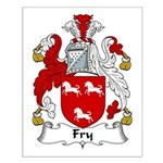 Fry Family Crest  Small Poster
