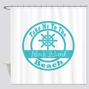 Take Me to Block Island Shower Curtain