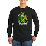 Frank Family Crest Long Sleeve Dark T-Shirt