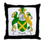 Frank Family Crest Throw Pillow