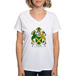 Frank Family Crest Women's V-Neck T-Shirt