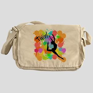 SPLATTER TWIRL Messenger Bag