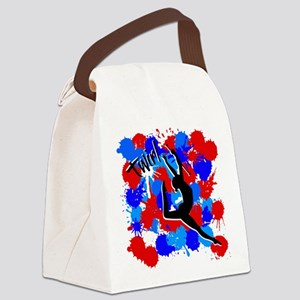 SPLATTER TWIRL Canvas Lunch Bag