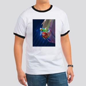 Super Crayon Colored Dirt Bike Leaning Int T-Shirt