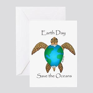 Earth Day Turtle Greeting Cards