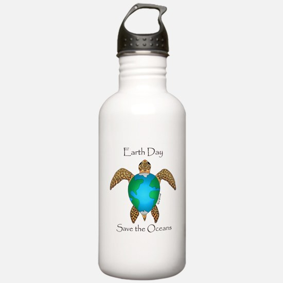 Earth Day Turtle Water Bottle