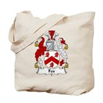 Fox Family Crest Tote Bag