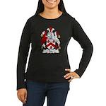 Fox Family Crest Women's Long Sleeve Dark T-Shirt