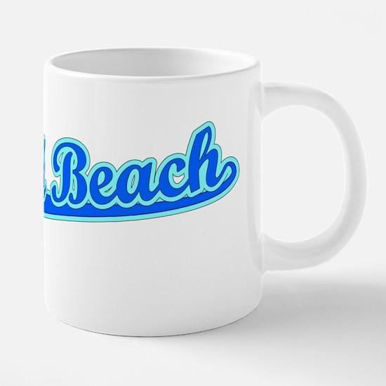 Retro Ormond Beach (Blue) Mugs