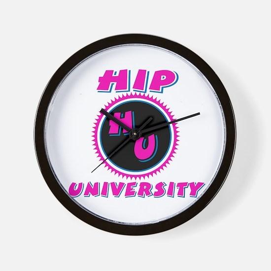 Hip University Pink Wall Clock
