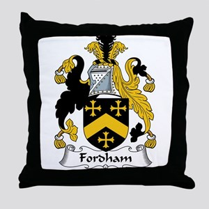 Fordham Family Crest  Throw Pillow