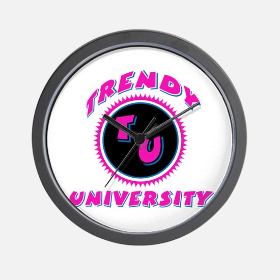 Trendy University Pink Wall Clock